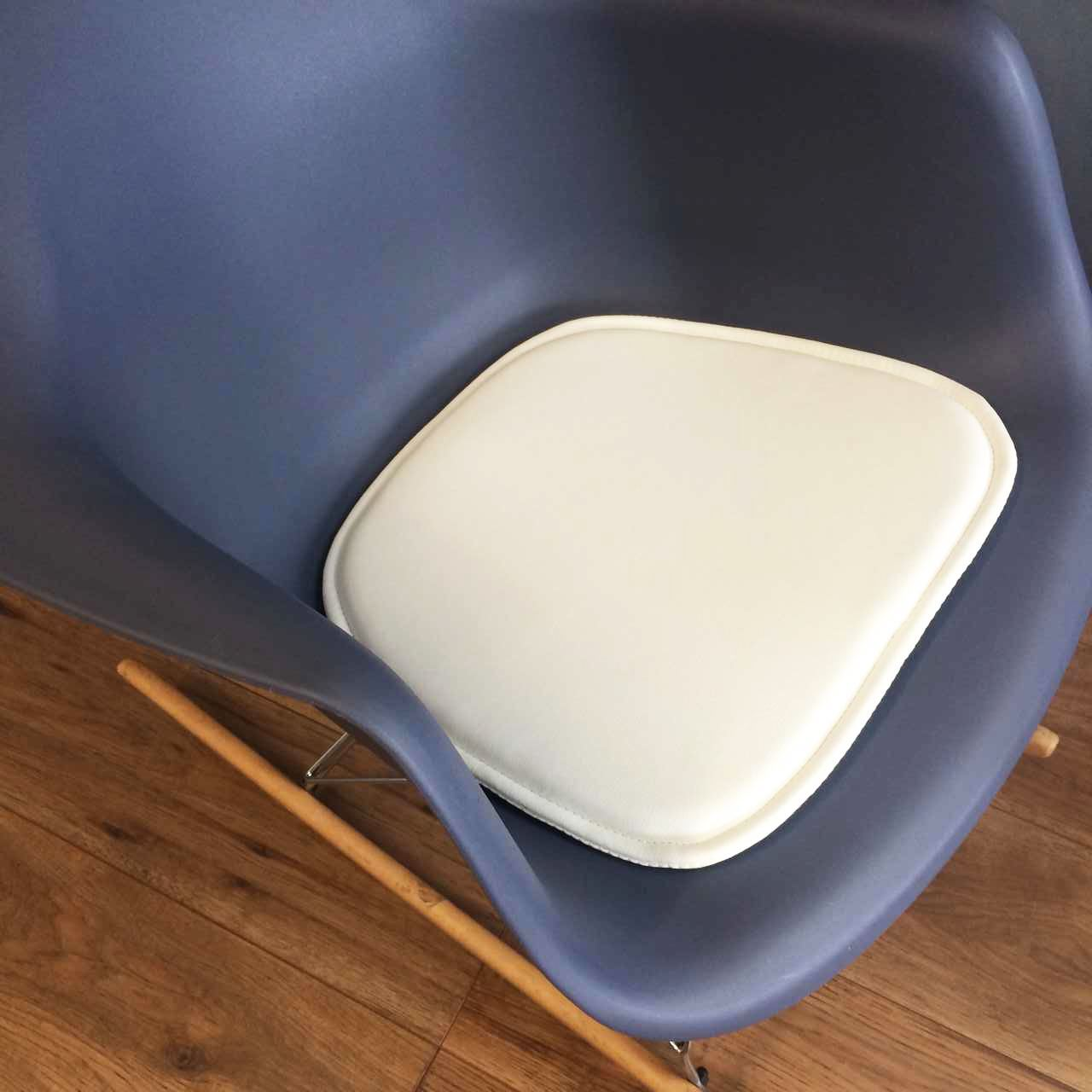 faux leather chair pads cobra portable picnic charles eames seat pad cushions compatible