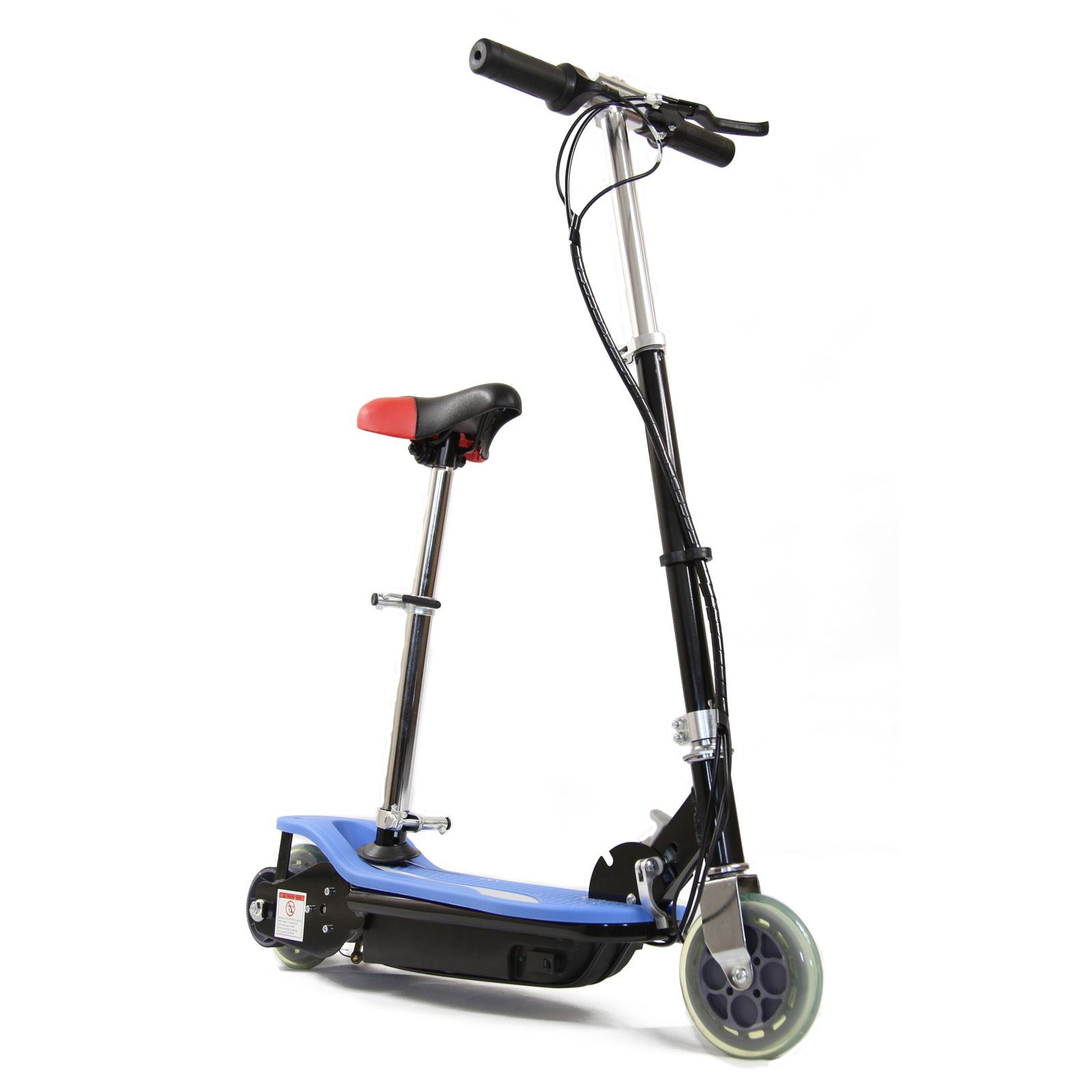 Electric Scooter E Scooter Foldable With Seat 120w Twin Battery Ride On Toys