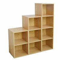 Wooden Bookcase Shelving Display Storage Wood Shelf ...