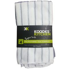 Kitchen Tea Towels Silicone Tools 4 Pack Microfibre So Soft Secret