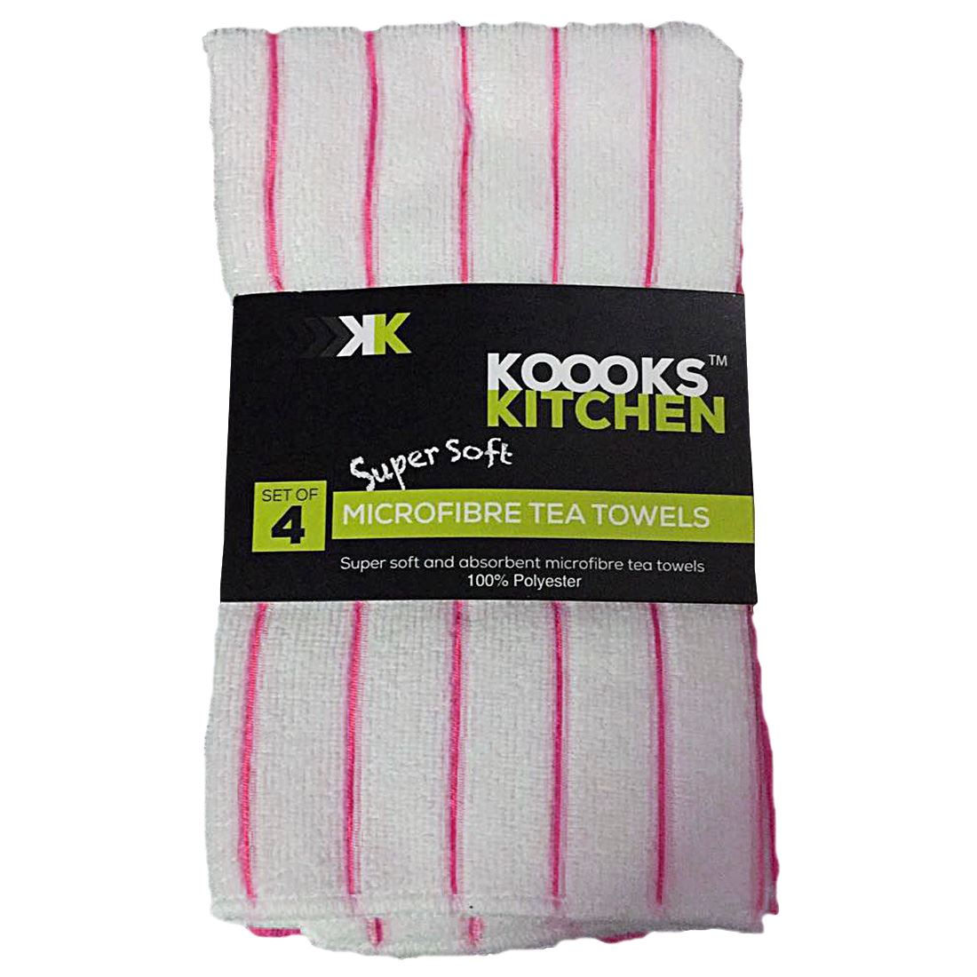 kitchen tea towels design a online 4pk microfibre towel so soft extra absorbency