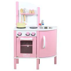 Kids Play Kitchen Accessories Memory Foam Floor Mats Childrens Girls Pink Wooden Toy With 5 Piece