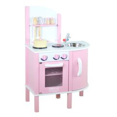 Kitchen Set For Girl Colored Islands Childrens Girls Pink Wooden Toy With 5 Piece