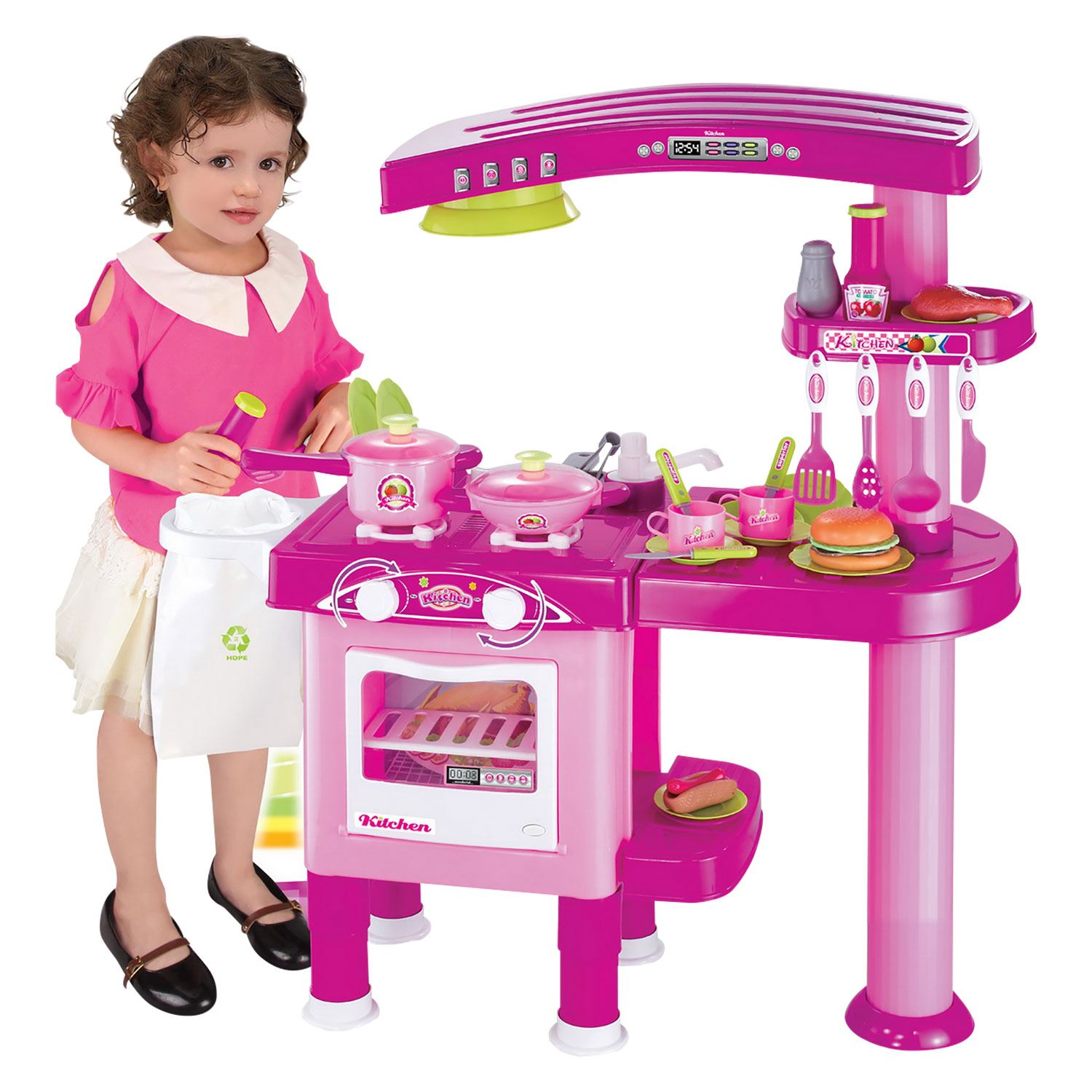 kitchen set for girl rustic faucets boys girls childrens kids play pretend toy