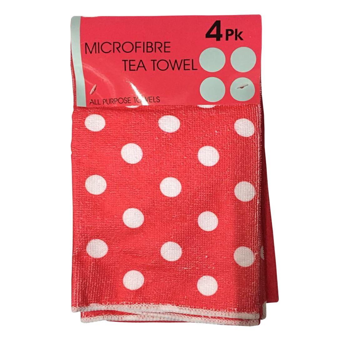 kitchen tea towels exhaust hood 4 pack microfibre so soft secret