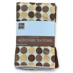 Kitchen Tea Towels Remodel Los Angeles 4 Pack Microfibre So Soft Secret