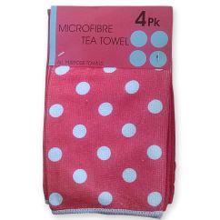 Kitchen Tea Towels Summer Design 4pk Microfibre Towel So Soft Extra Absorbency