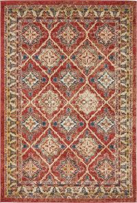 Traditional Large Faded Persian Design Rug Small Vintage ...