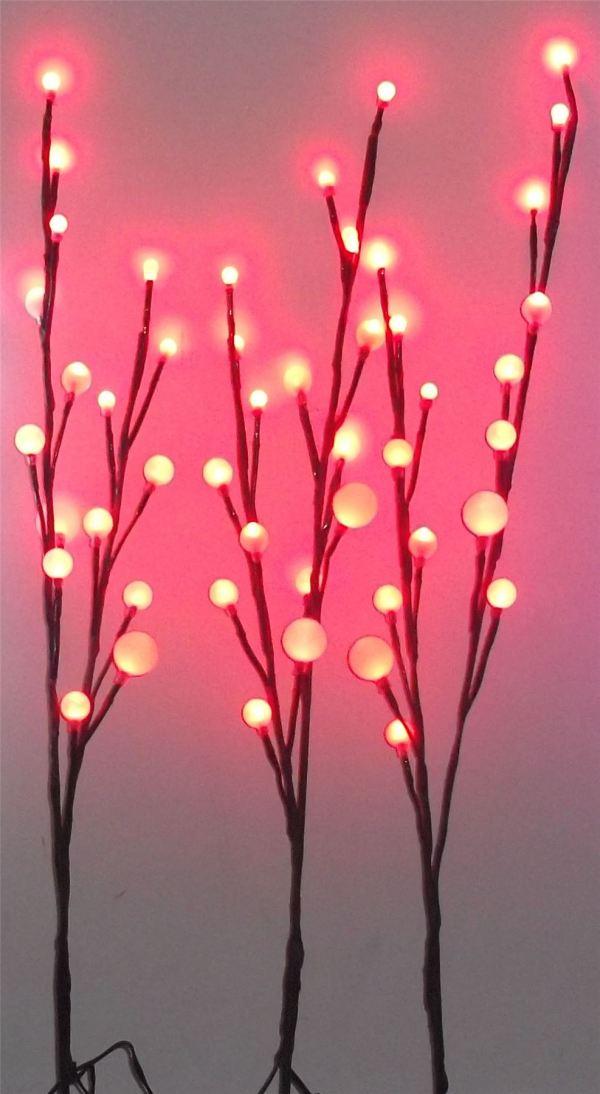 Decorative Christmas 48 Led Ball Branch Of 3 Twig Lights