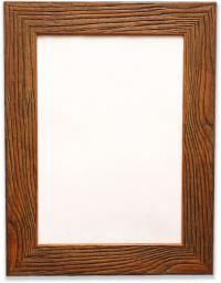 Dark Rustic Wood Grain Finish Photo/Picture Frame 43mm
