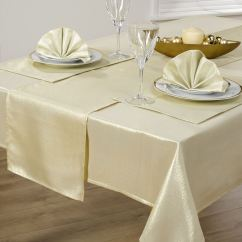 9 Piece Kitchen Table Set Round Glass Tables 14 Christmas Cloth Linen Napkins Runner ...