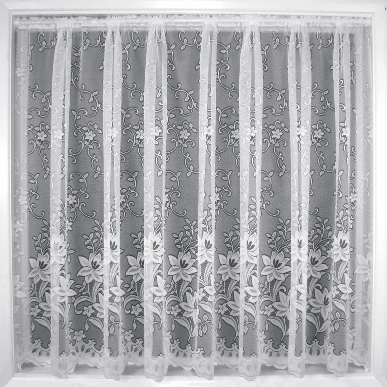 MODERN WHITE SHEERS NET CURTAIN LUXURY LACE CURTAINS NETS SOLD BY