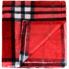 Black And White Checkered Sofa Bed Neal Sofaworks Teddy Tartan Check Fleece Throw Blanket Red