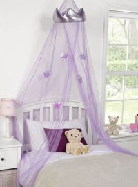 KIDS CHILDRENS GIRLS PRINCESS CROWN BED CANOPY INSECT ...