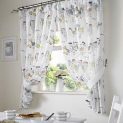 Country Style Kitchen Curtains Planning A Island Chickens Rooster Curtain Set Window