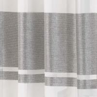White And Metallic Silver Curtains | Nice Houzz
