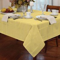 COUNTRY STYLE GINGHAM CHECK TABLE CLOTH SQUARE ROUND ...