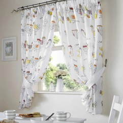 Country Style Kitchen Curtains Semi Custom Cabinets Chickens Rooster Curtain Set Window