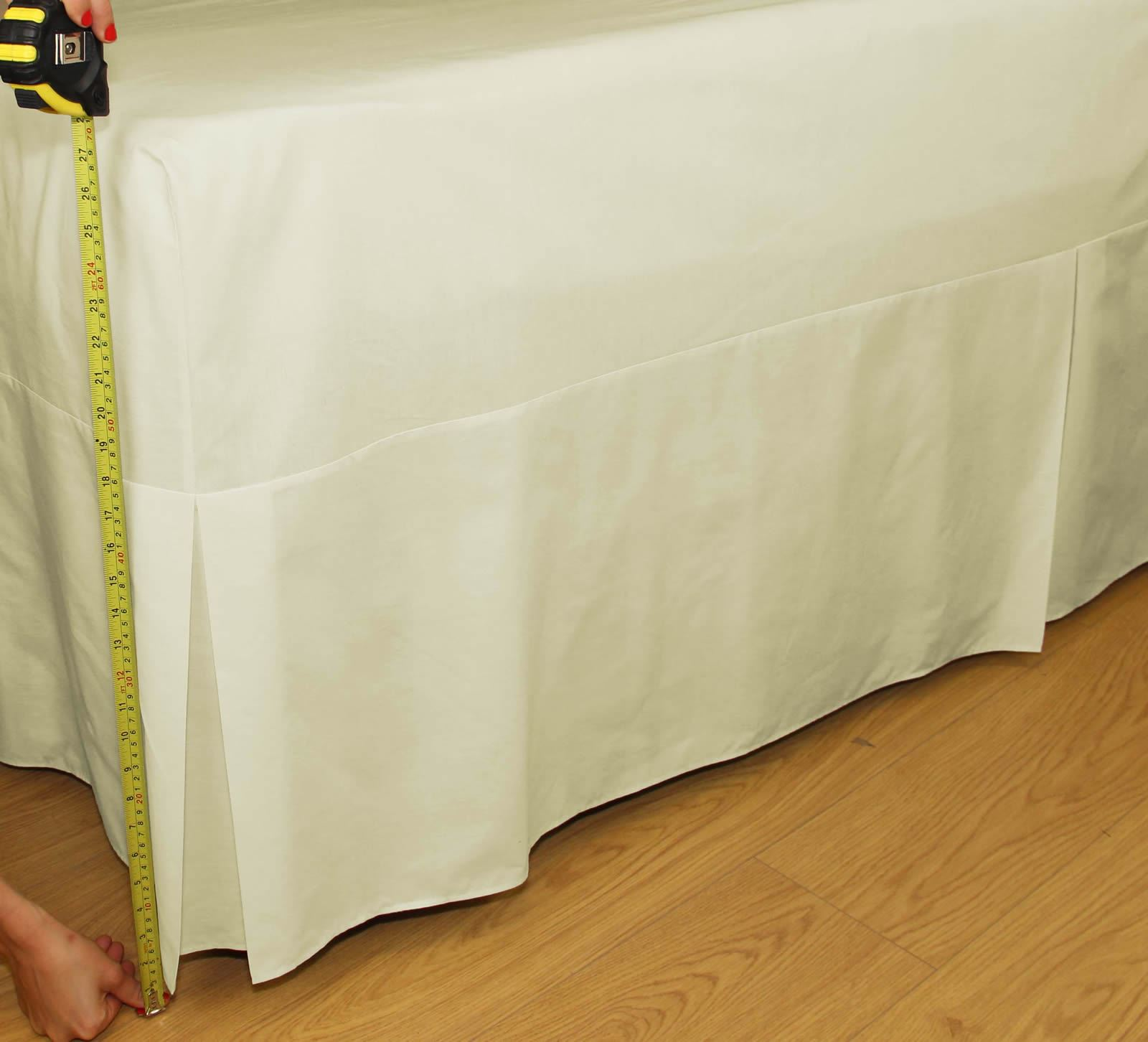 Percale Fitted Valance Sheets Pleated Box Valance 26