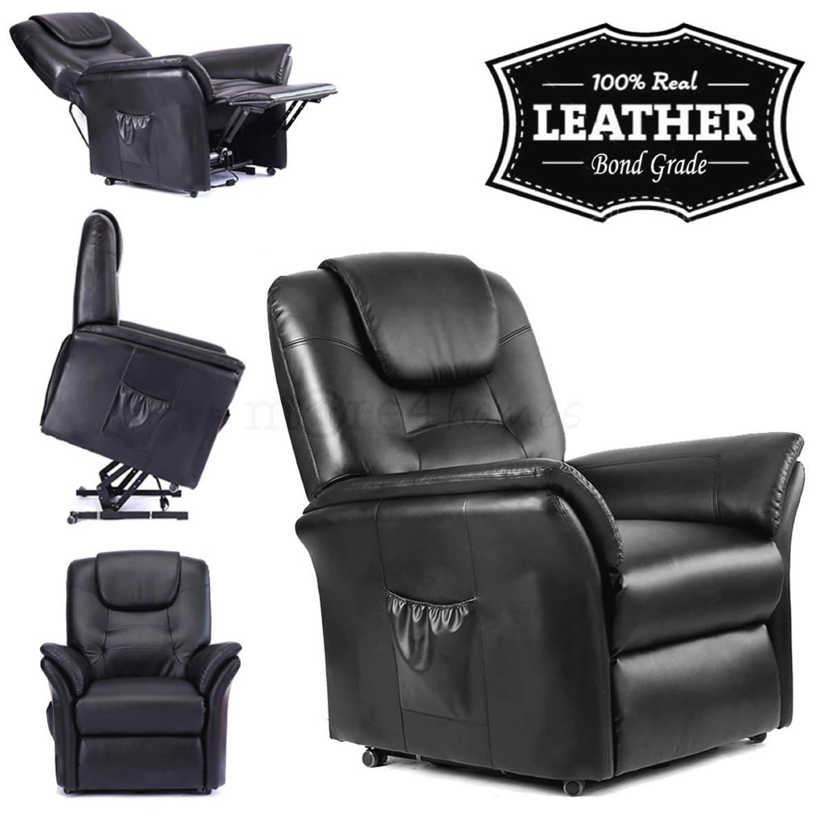 electric reclining chairs for elderly chair mat wood floors windsor elecrtic rise recliner leather armchair sofa