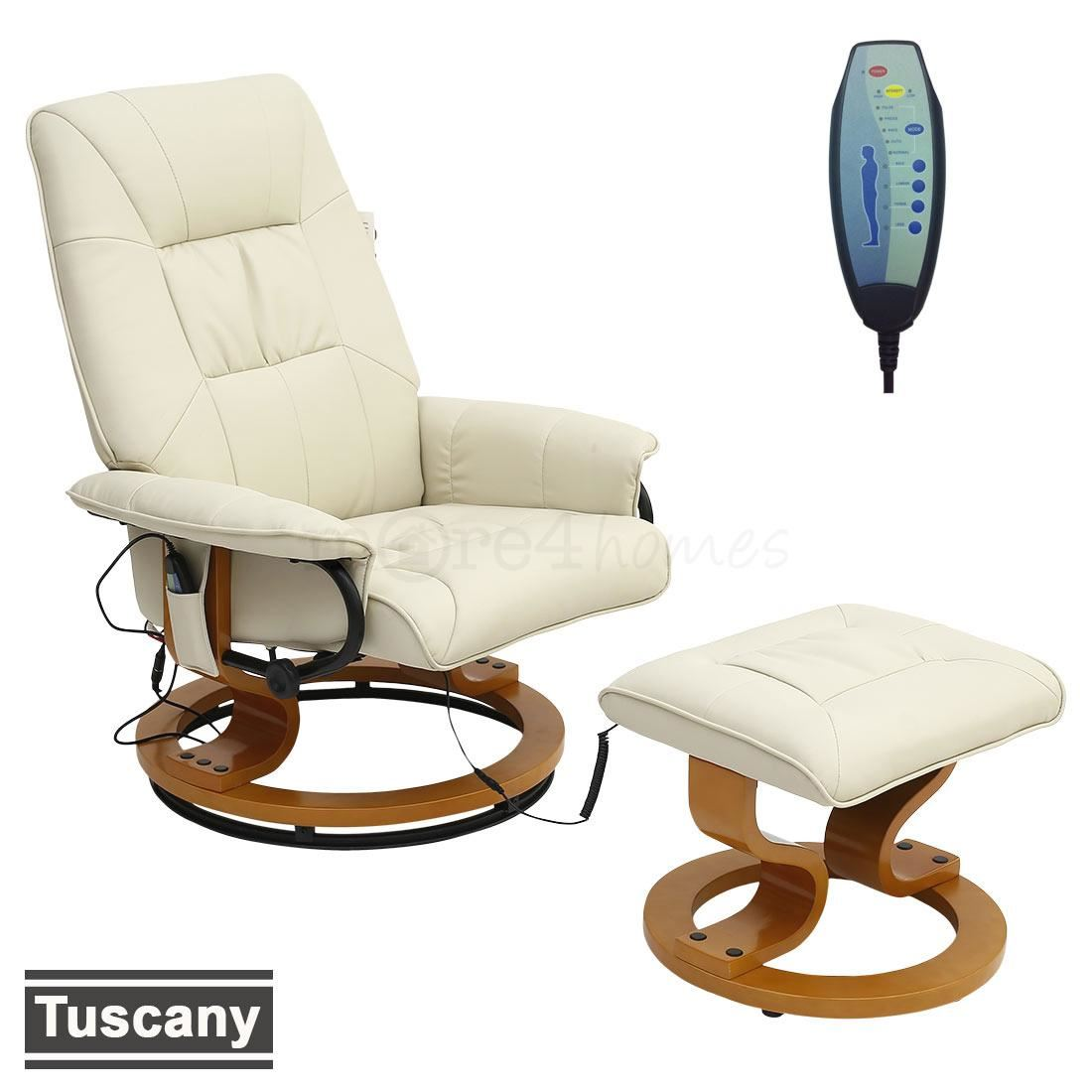 leather swivel recliner chair and stool copa beach tuscany real cream massage w