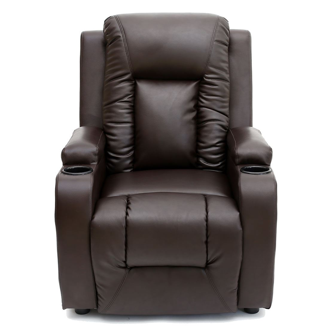 video game chair with cup holder boston swivel oscar brown leather recliner w drink holders armchair sofa