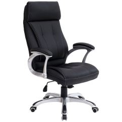 Black Leather Desk Chairs Toilet Chair Height Or Standard Modini High Back Executive Office