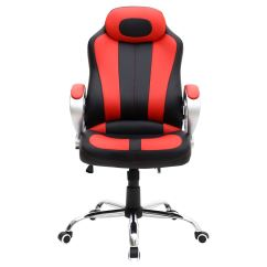 Red Swivel Desk Chair Kitchen Bar Chairs Uk Monaco Black Gaming Sports Car Seat Home Office