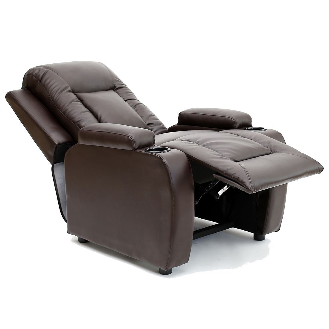 sofa armchair drink holder caddy full size flip oscar leather recliner w holders chair