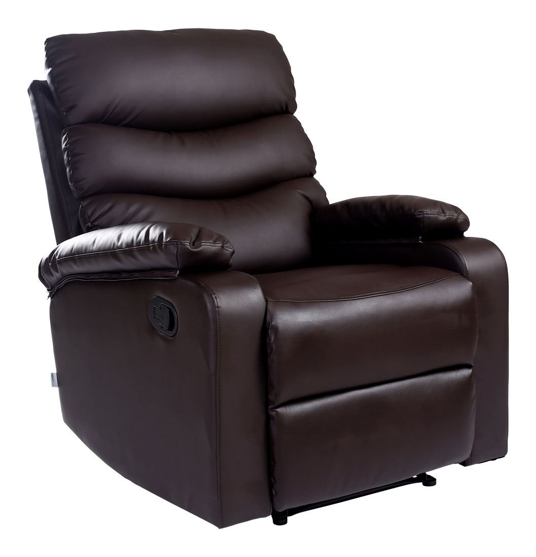 Reclining Lounge Chair Ashby Leather Recliner Armchair Sofa Home Lounge Chair