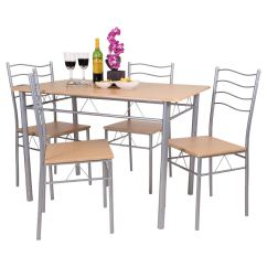 Dining Table With Metal Chairs Value City Furniture Accent Florida 5 Piece And 4 Chair Set Breakfast