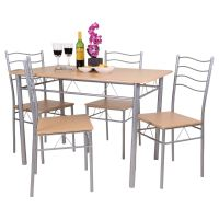 FLORIDA 5 PIECE DINING TABLE AND 4 CHAIR SET. BREAKFAST