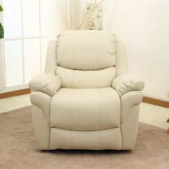 Cream Leather Sofa Set Uk How To Fix Cat Scratches On Madison Real Recliner Armchair Home