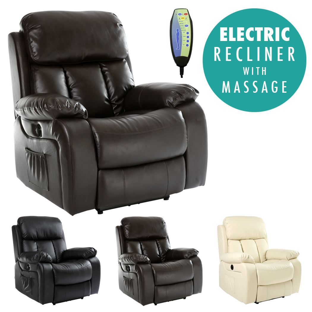 heated chair cover for recliner rocky brand folding chairs chester electric leather massage