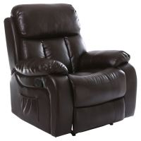 Recliner Heated Massage Chair. CHESTER HEATED LEATHER ...