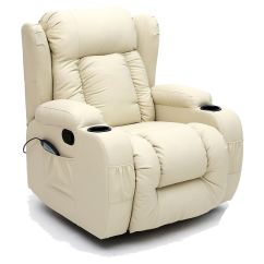 Recliner Swivel Chair Outdoor Rattan Papasan With Cushion Caesar 10 In 1 Winged Leather Rocking