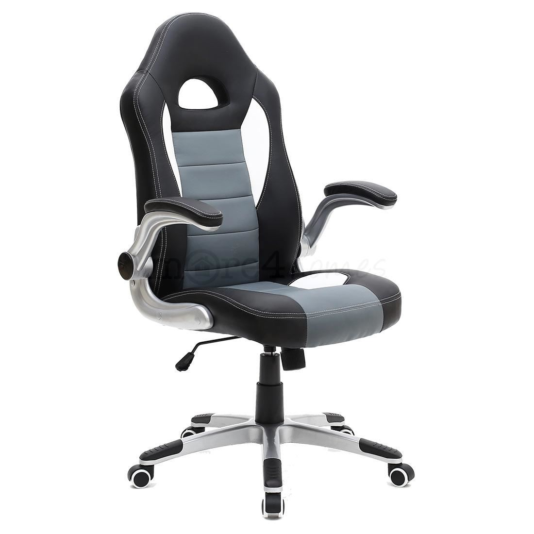 desk chair adjustable whiskey barrel chairs and table cruz sport racing car office leather