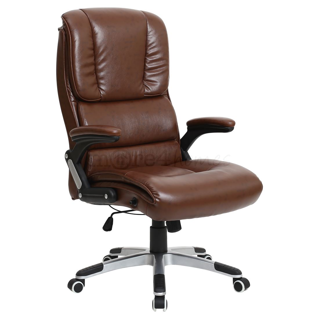 Comfortable Office Chairs Santiago Super Comfortable Faux Leather Office Swivel