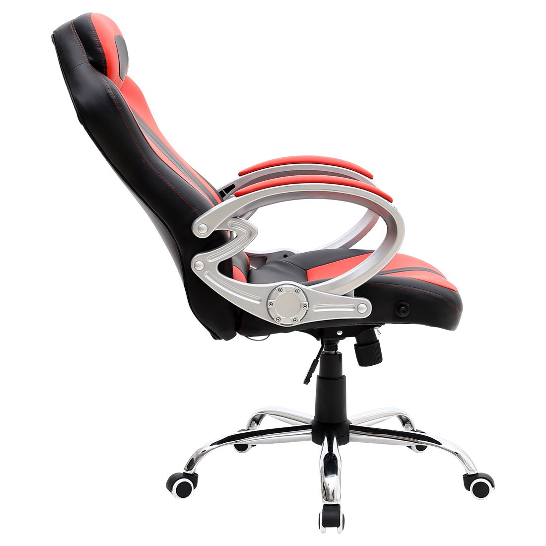 swivel chair for car rentals houston monaco black red gaming sports seat home office