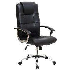 Desk Chair Ebay Uk Parsons Chairs With Skirt Grande High Back Executive Leather Office Computer