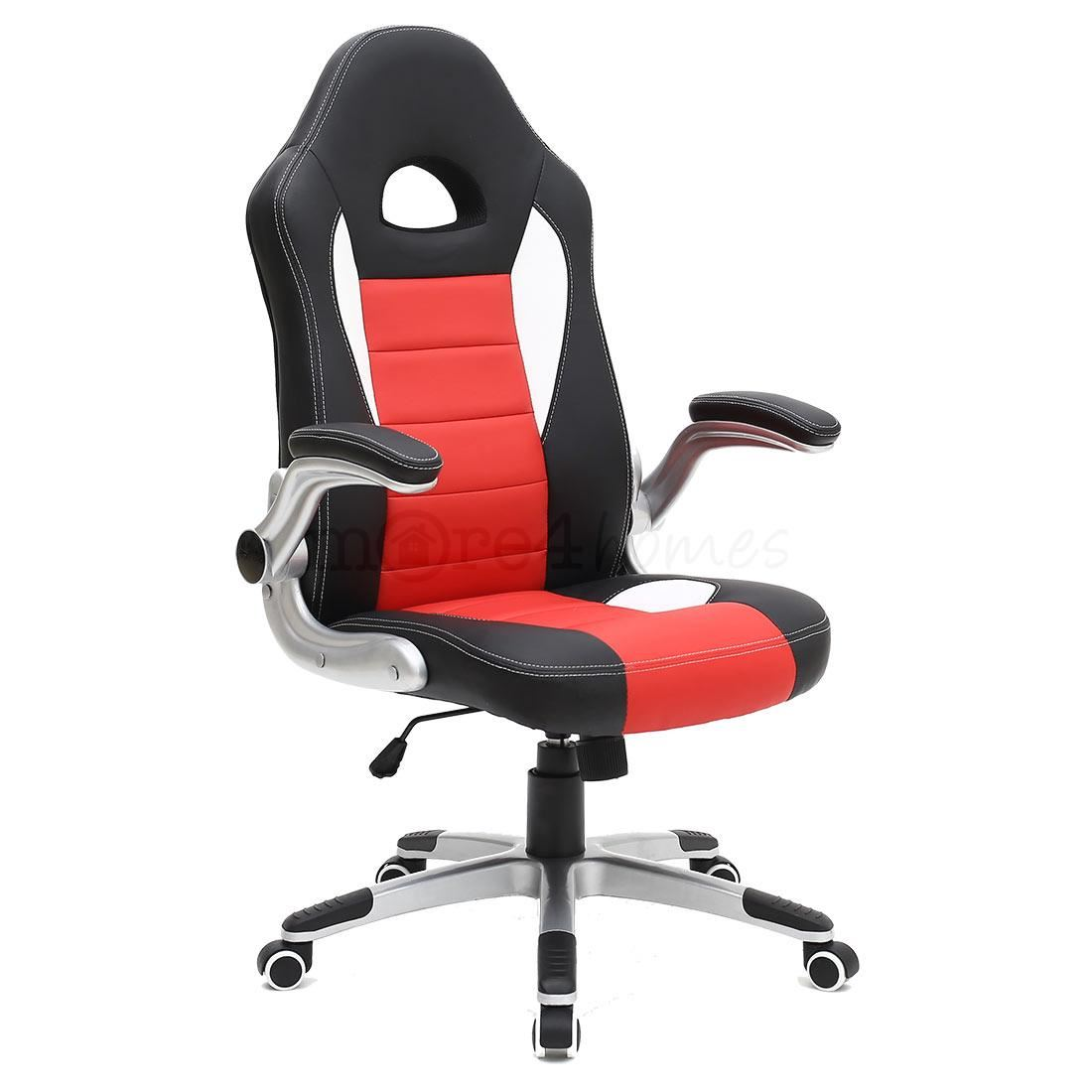 Racing Desk Chair Cruz Sport Racing Car Office Chair Leather Adjustable