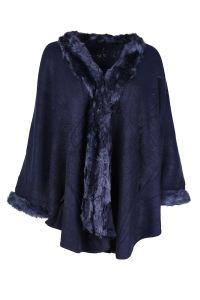 Ladies Faux Fur Poncho Cape Shawl Stole Wrap Coat UK 10-20 ...