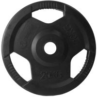 "Olympic 2"" Weight Plates Discs Tri Grip with Plastic Cover ..."