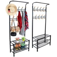 METAL HAT COAT CLOTHES SHOE STAND STEEL PIPE STAND RACK ...