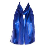 Chiffon Satin Plain Striped Elegant Ladies Scarf | eBay