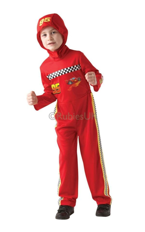 Boys Official Lightning Mcqueen Disney Cars Fancy Dress
