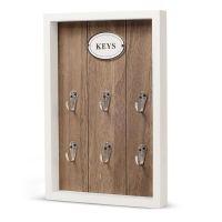 Wooden Rustic Wall Key Box Storage Hook Holder Wooden   eBay