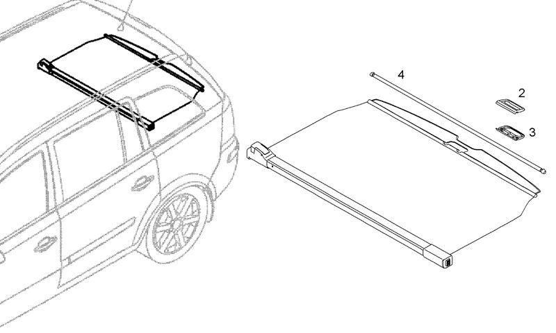 GENUINE Vauxhall Zafira B Boot Blind Cover Divider