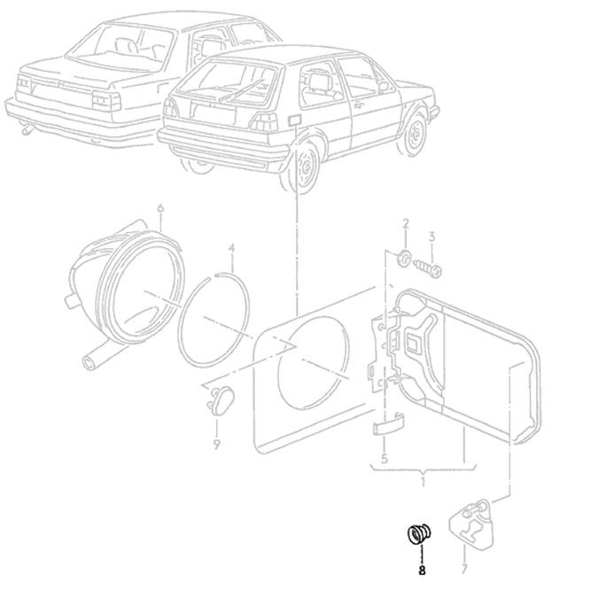 New Genuine Obsolete VW Mk2 Gti Golf Jetta Rallye Seal