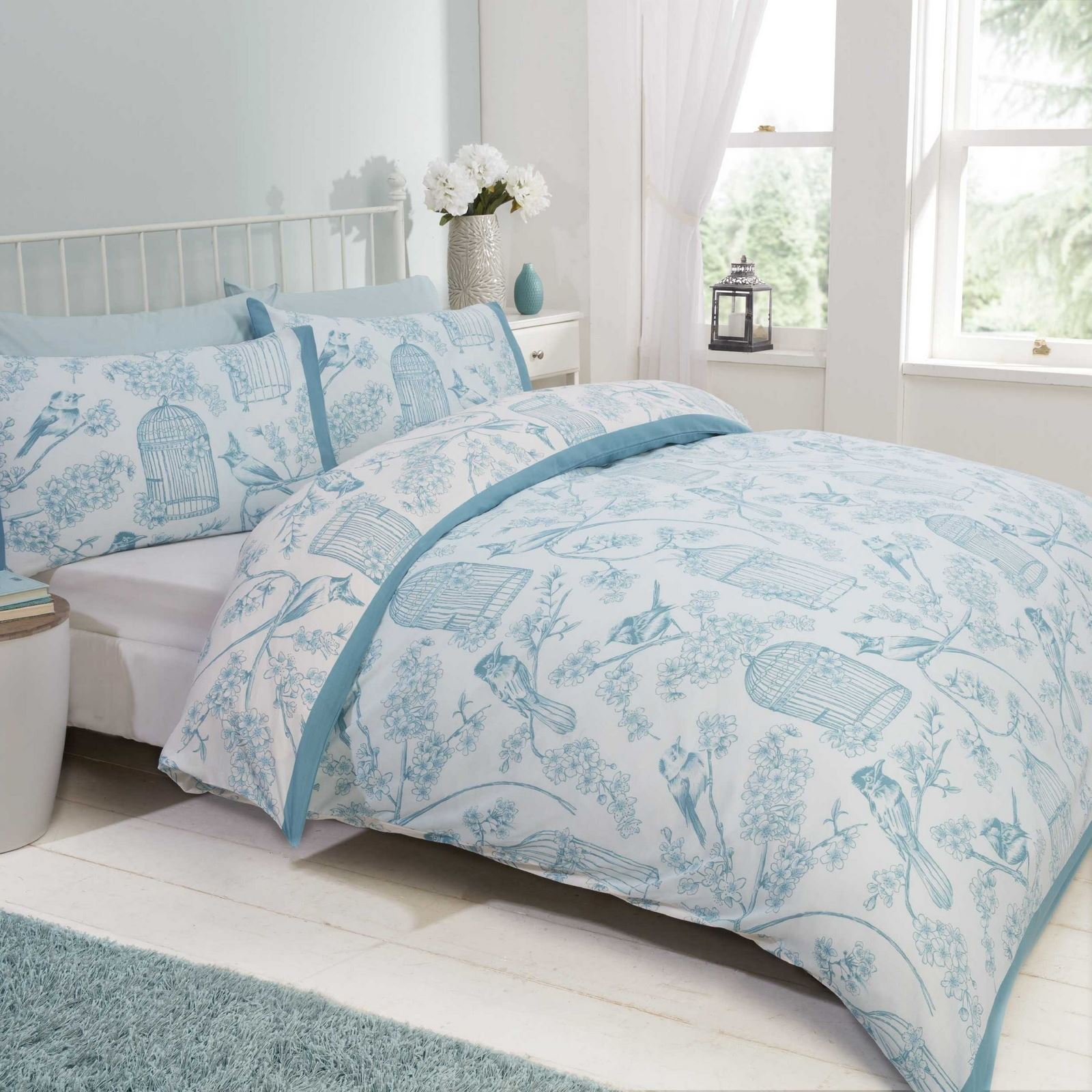 Floral Quilt Duvet Cover Amp Pillowcase Bedding Bed Set